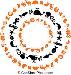 Tierplaneten - Sammlung ökologischer Ikonen