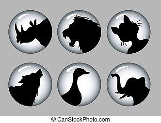 Tiersilhouette 1 schwarz & weiß