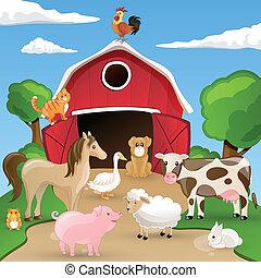 Tierzucht mit Tieren