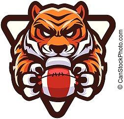 Tiger American Football Maskottchen.