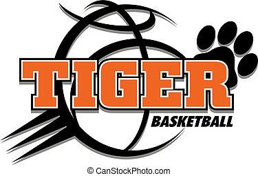 tiger, basketball, design