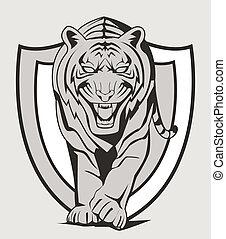 tiger, emblem