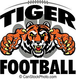 Tiger Football Design.