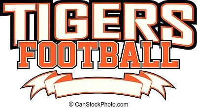 tiger, fußball, banner
