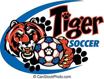 Tiger-Fußball.