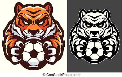 Tiger-Fußball-Maskottchen.