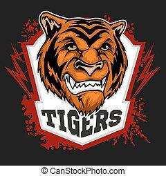 Tiger Maskottchen - Sportteam
