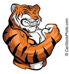 Tiger Maskottchen.