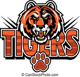Tiger Maskottchendesign.