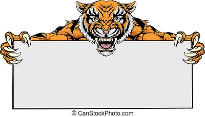 Tiger Maskottchenzeichen.