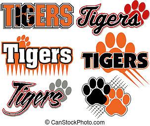 Tiger mit Pfotendruck.