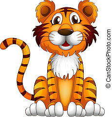 tiger, setzend