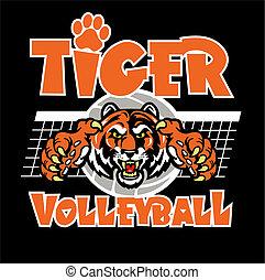 Tiger Volleyball Design.