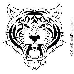 Tigerkopf.