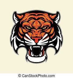 Tigerkopf Maskottchen.