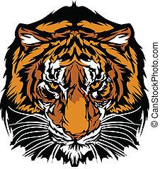 Tigerkopf-Maskottchen