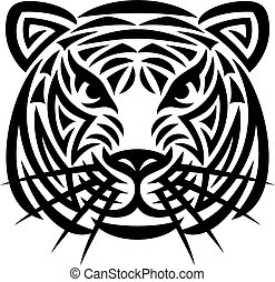 Tigerkopf-Tattoo (Tigergesicht)