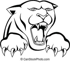 Tigerkopf-Tattoo