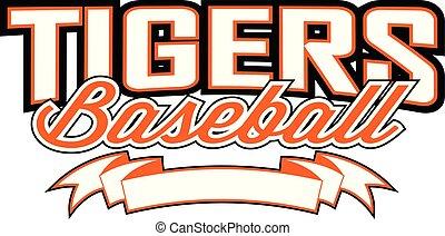 Tigers Baseball Design mit Banner