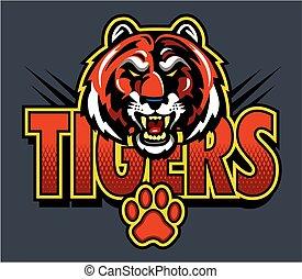 Tigers Maskottchen-Logo.