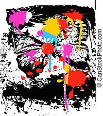 Tintenspritzer-Effekt