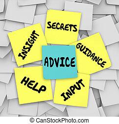 Tipp-Geheimnisse helfen bei der Anleitung klebrige Notizen.