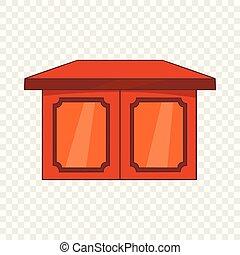 Tisch für Wohnraum-Ikone, Cartoon Stil.