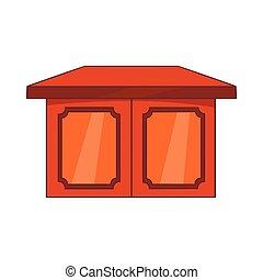 Tisch für Wohnraum-Ikone, Cartoon Stil