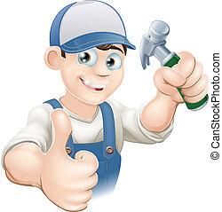 Tischler oder Bauarbeiter