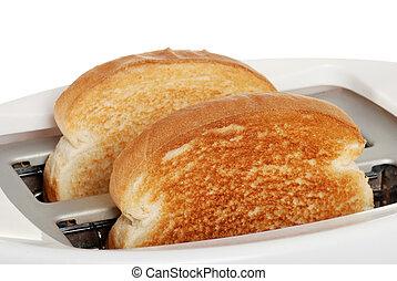 Toast in Toaster.