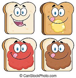 Toastbrot-Brot-Sammlung eingestellt