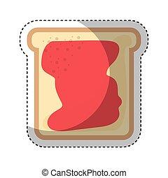 Toastbrot mit Marmelade.
