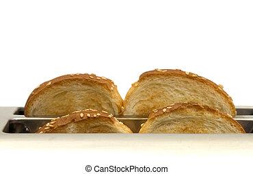 toaster, bread
