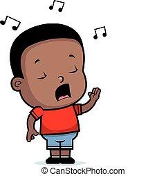 Toddler singt