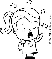 Toddler singt.