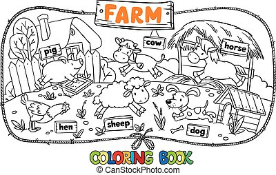 Tolles Farbbuch mit Bauerntieren.