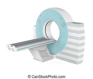 tomographie, ct, freigestellt, scanner