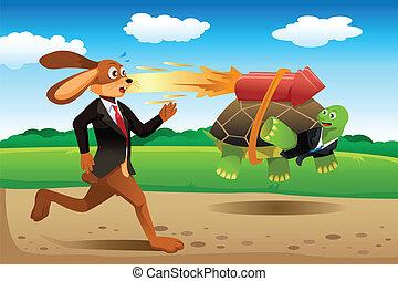 Tortoise und Hasenrennen