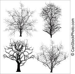Tote Bäume Vektoren
