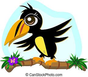 Toucan Vogel in Balance.