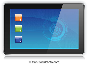 Touchpad oder Tablet PC Computer