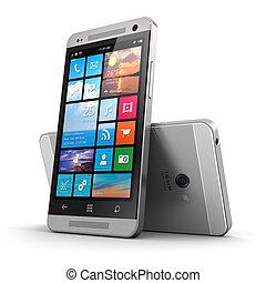 touchscreen, modern, smartphone