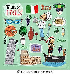 Tour der italienischen Illustration.