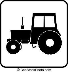 Tractor Silhouette Ikone.