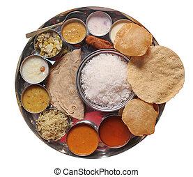 Traditionell indisches Essen und Essen