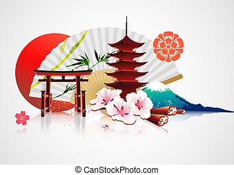 Traditionell japanischer Hintergrund
