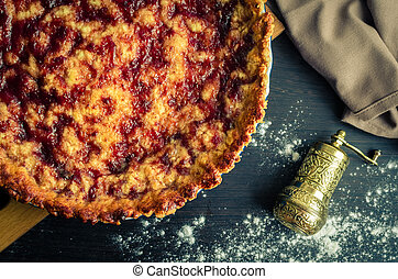 Traditionelle italienische Kuchenkrostata