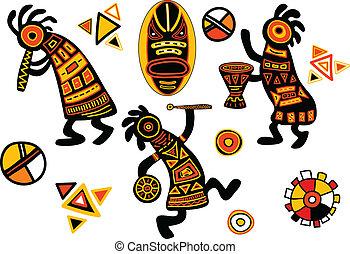 traditionelle , muster, vektor, afrikanisch