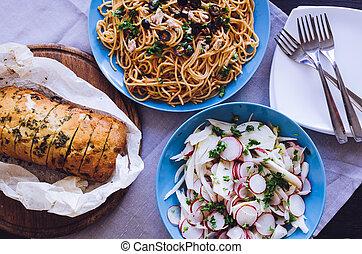 Traditionelles italienisches Abendessen