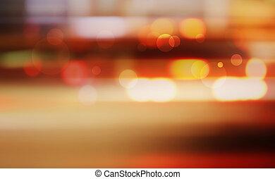 traffic., nacht, fokus., heraus